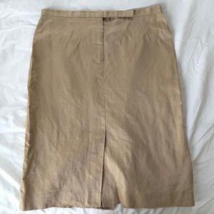 Dresses & Skirts - Vintage Armani Exchange gold linen skirt size 2